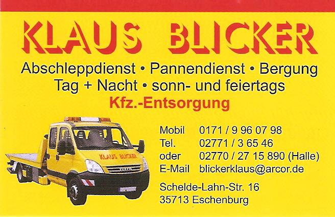 Abschleppdienst Klaus Blicker